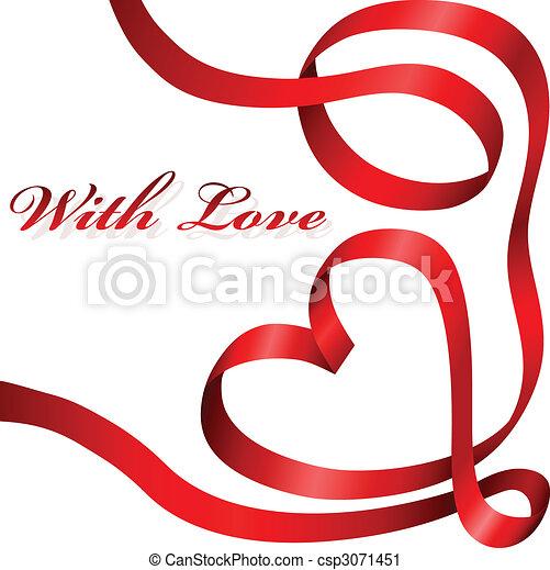 Ribbon heart - csp3071451
