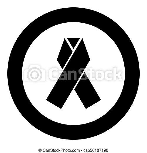 Ribbon icon black color in circle - csp56187198