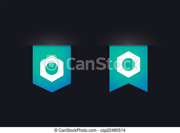 Ribbon icon set with nuts - csp22480514