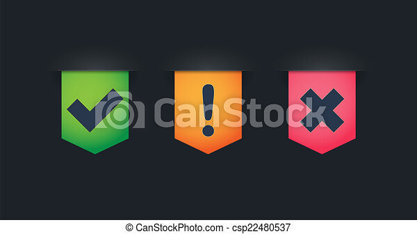 Ribbon icon set with survey related icons - csp22480537