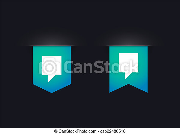 Ribbon icon set with tooltips - csp22480516