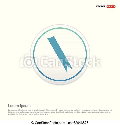 ribbon icon - white circle button - csp62046878