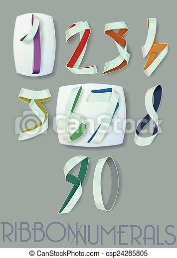 Ribbon Numerals - csp24285805