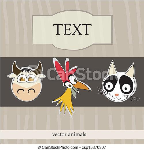 ribbon of farm animals - csp15370307