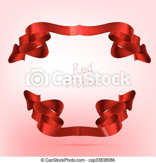 Ribbon red - csp33838086