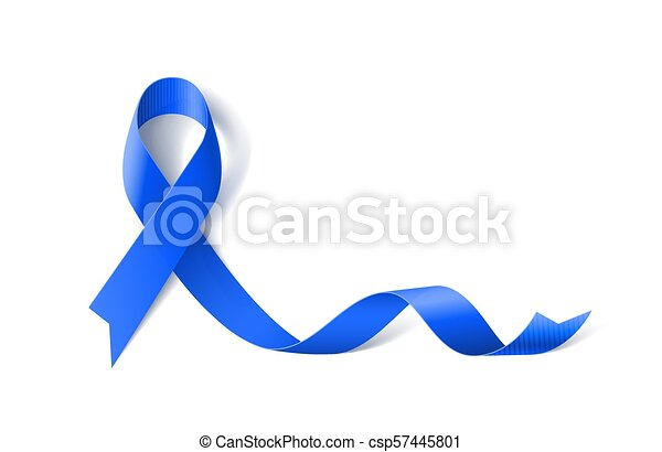 Ribbon Symbol White Banner With Colon Cancer And Colo Rectal Cancer