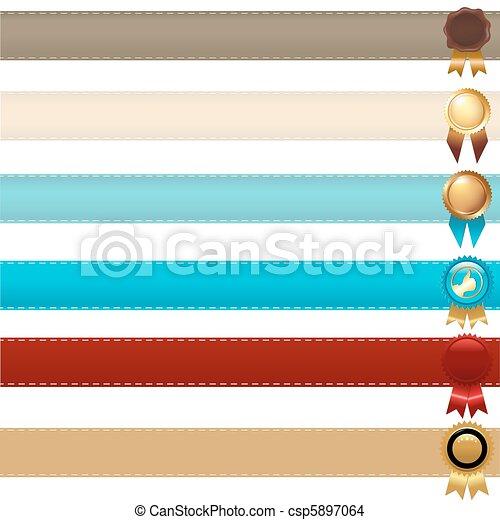 Ribbons And Awards - csp5897064