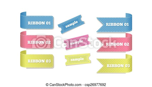 Ribbons and Etiquettes - csp26977692