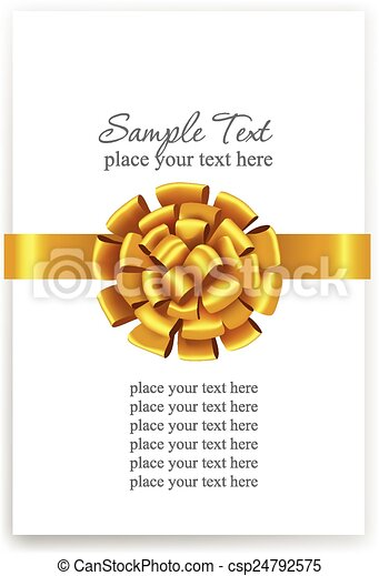ribbons., arco, ouro, presente - csp24792575