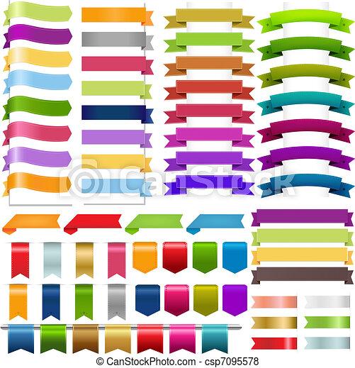 Ribbons Big Set - csp7095578