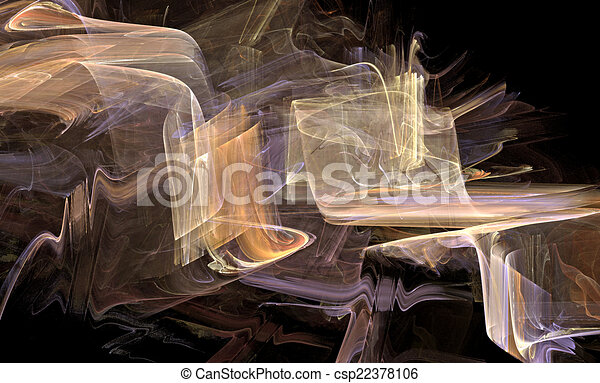 Ribbons of light - csp22378106