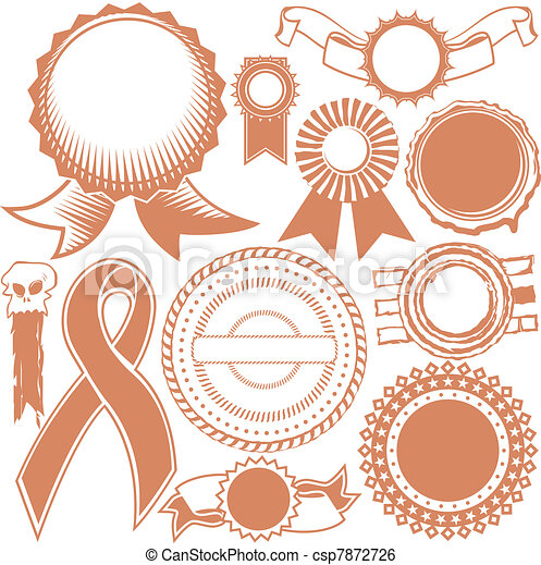 Ribbons & Seals Collection - csp7872726