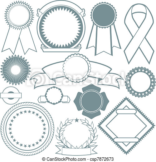 Ribbons & Seals Collection - csp7872673