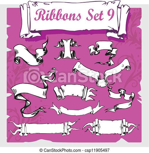 Ribbons Set - Vector illustration. - csp11905497