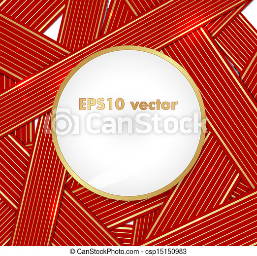 Ribbons vector background - csp15150983