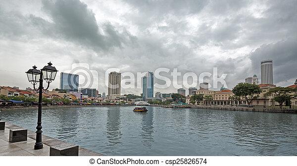 Riverside en Singapur - csp25826574