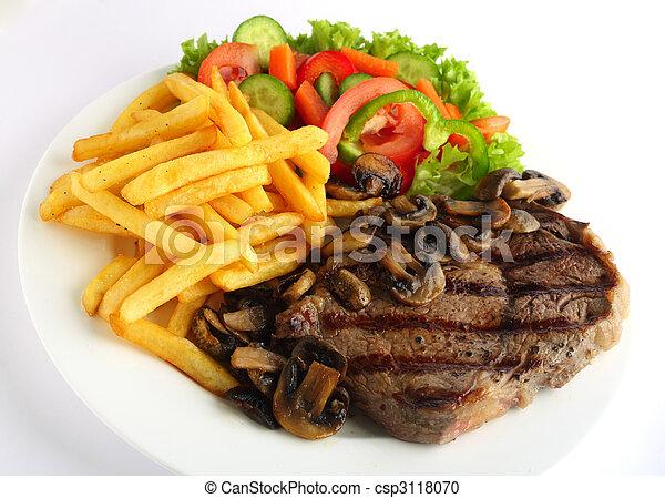 ribeye, maaltijd, biefstuk - csp3118070