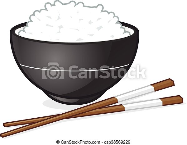 rice bowl vector cartoon clipart picture of a rice bowl rh canstockphoto com bowl of rice clipart rice clip art black and white