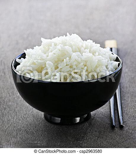 Rice bowl with chopsticks - csp2963580