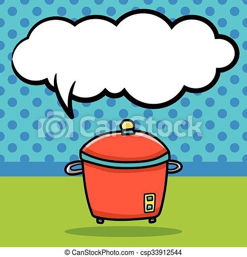 rice cooker doodle - csp33912544
