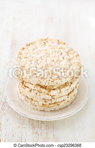 rice galettes on plate - csp23296368