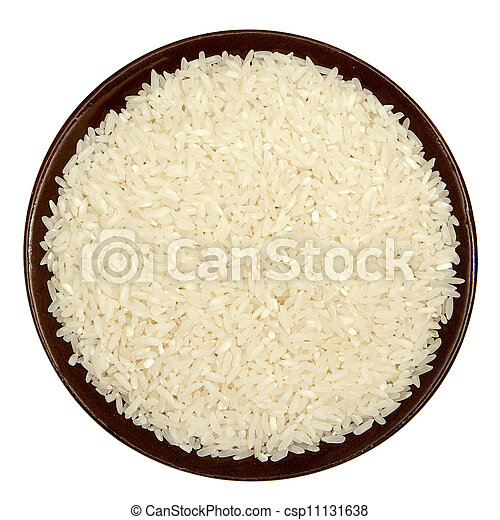 Rice in a brown plate - csp11131638