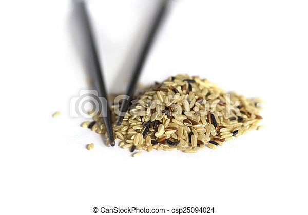 Rice isolated on white - csp25094024