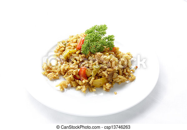 Rice on a plate - csp13746263