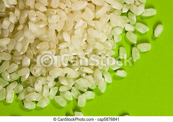 rice on green background - csp5876841