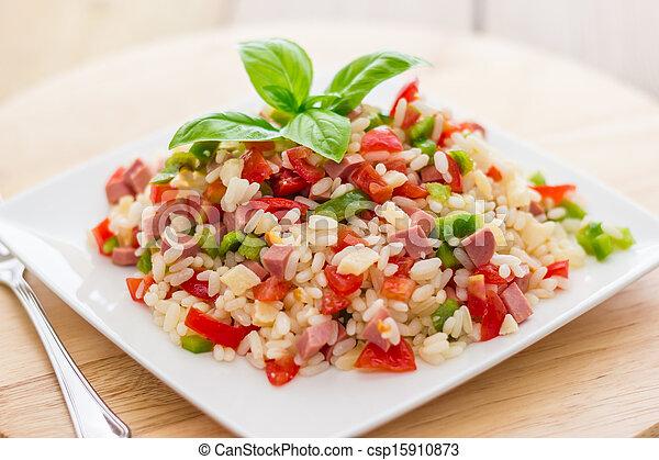 Rice salad - csp15910873