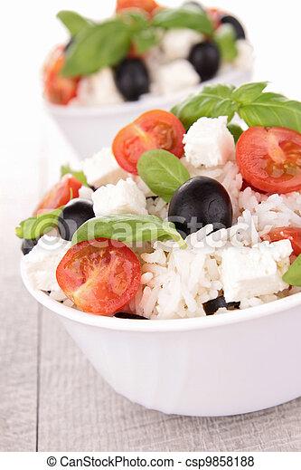 rice salad - csp9858188