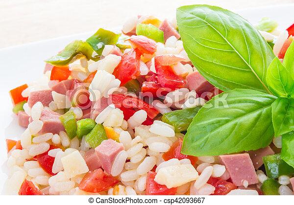 Rice salad - csp42093667