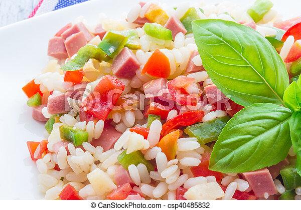 Rice salad - csp40485832