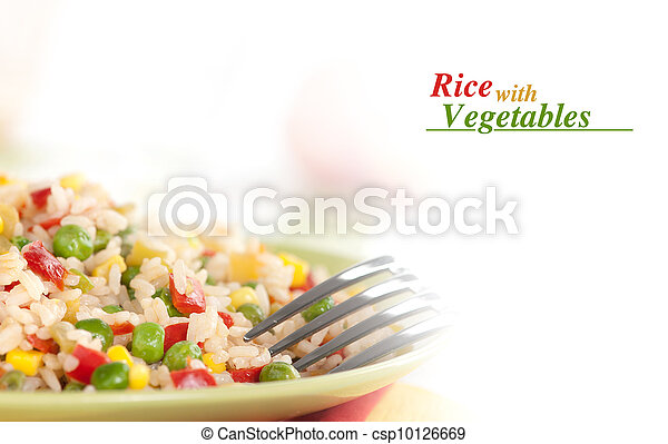 rice with vegetables - csp10126669