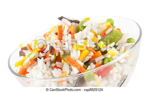 rice with vegetables - csp8829124