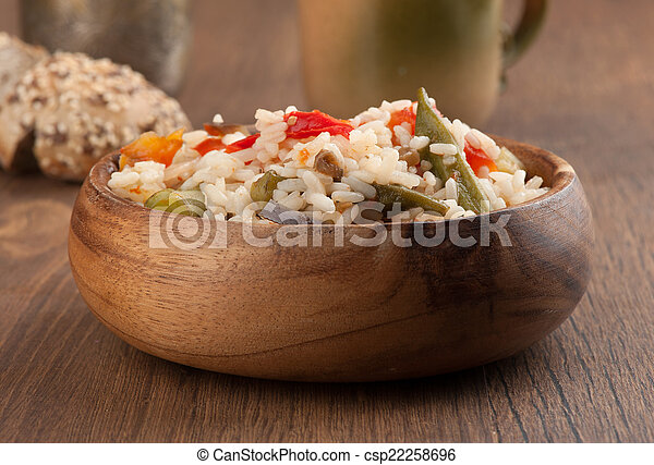 rice with vegetables - csp22258696