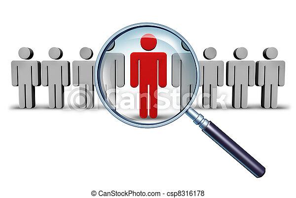 ricerca lavoro - csp8316178