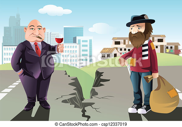 Vector clip art of rich and poor concept a vector illustration rich and poor concept csp12337019 sciox Images