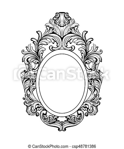 Vector French Luxury Rich Intricate Ornaments Victorian Royal Style