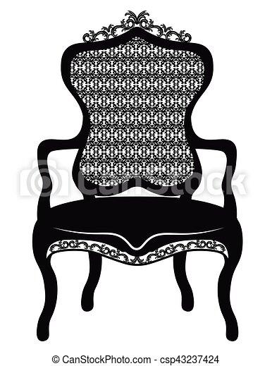 Rich Baroque Rococo Chair   Csp43237424