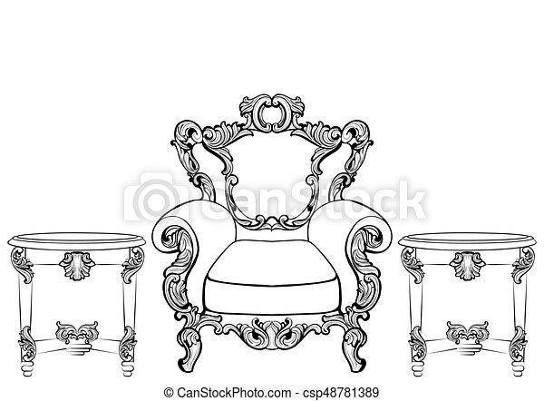 Rich Imperial Baroque Rococo Furniture And Frames Set French