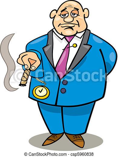 cartoon illustration of rich man smoking cigar vector search clip rh canstockphoto com Poor Man Clip Art Man Clip Art