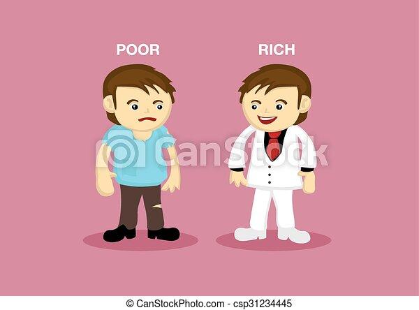 Eps vector of rich man poor man cartoon illustration rich man poor man cartoon illustration csp31234445 sciox Images