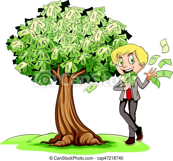 rich man with money on tree illustration eps vector search clip rh canstockphoto com