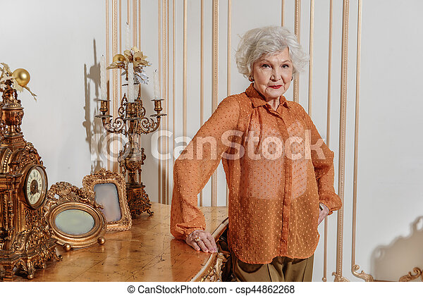 Rich old woman