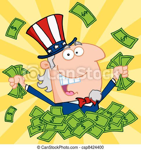 Rich Uncle Sam  - csp8424400