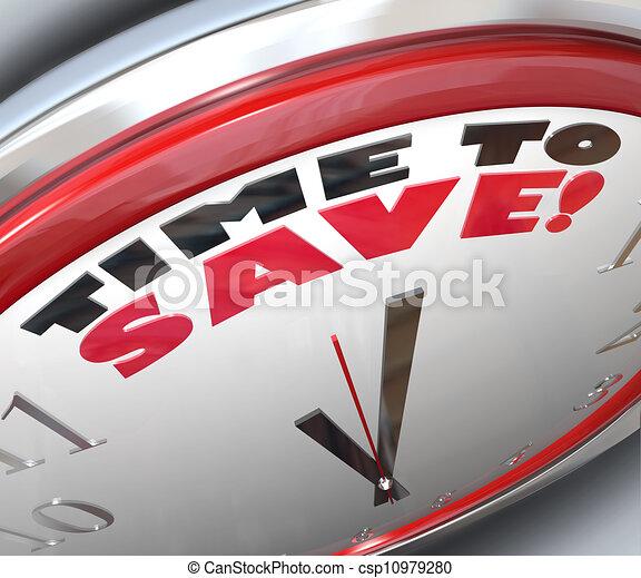 richesse, horloge, argent, économies, temps, sauver - csp10979280