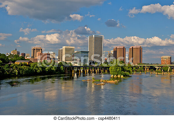 richmond, virginia, cityscape. - csp4480411