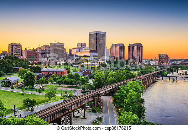 Richmond, Virginia, USA Skyline - csp38176215