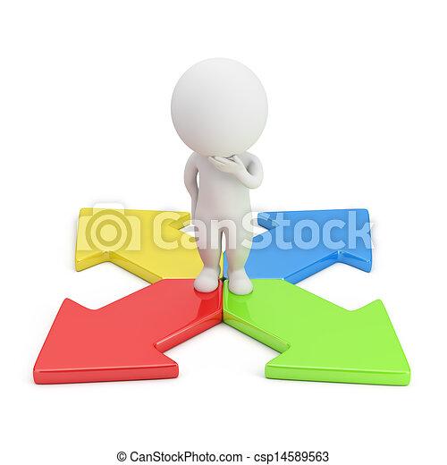 richting, mensen, -, keuze, kleine, 3d - csp14589563